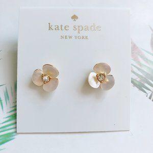 Kate Spade  White Flower Stud Earrings